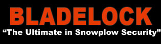 BLADELOCK the ultimate in snow plow security